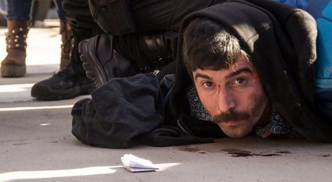 La represión del día fue en una protesta por la detención de Jones Huala