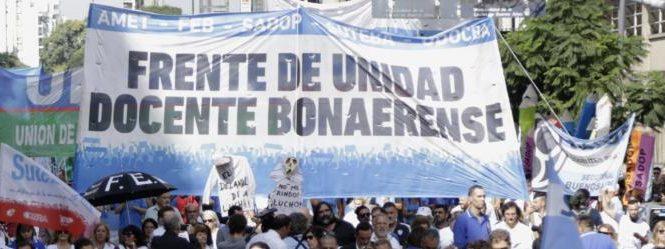 Docentes bonaerenses: El FUDB anuncia no inicio con paro de 72 horas