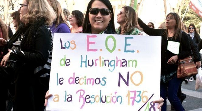 Marcha de docentes bonaerenses por los EOE