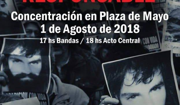 Conferencia de prensa: a un año de la desaparición forzada y muerte de Santiago Maldonado seguimos exigiendo justicia