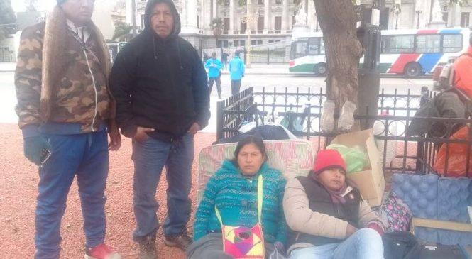 Acampe wichí frente al Congreso de la Nación