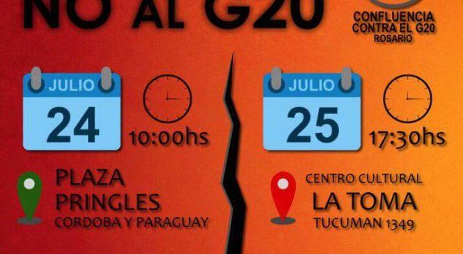 Rosario: Actividades en repudio al G20
