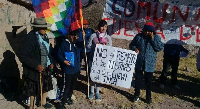 Tilcara: Comunidad Cueva del Inca impidió el remate de su territorio