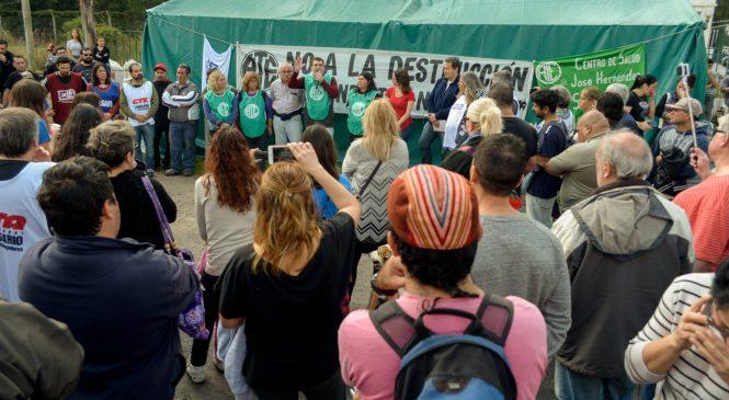 Cordón industrial del gran Rosario: Acto en defensa del trabajo en Fabricaciones Militares