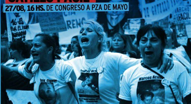 27/8 Marcha Nacional contra el Gatillo Fácil