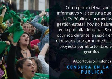 #AbortoSesiónHistórica : otra vez la TV Pública censurada