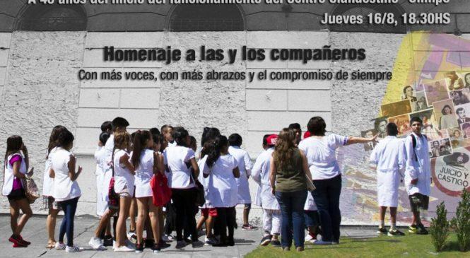 Sobrevivientes de la dictadura encabezaron un acto a 40 años del Centro Clandestino de Detención El Olimpo