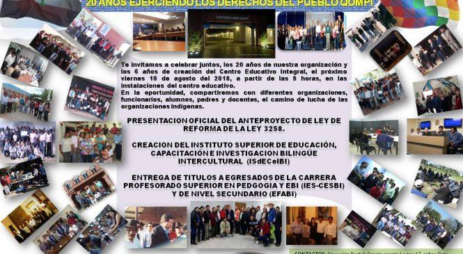 20 años ejerciendo los derechos del Pueblo Qompi en Pampa del Indio