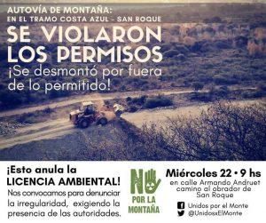 #NoalaAutoviadeMontaña ¡SE VIOLARON LOS PERMISOS!