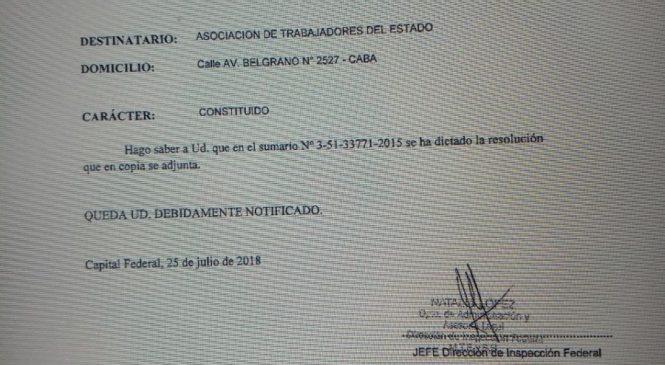 Nueva embestida de Triaca: Multa a ATE por no acatar conciliación obligatoria