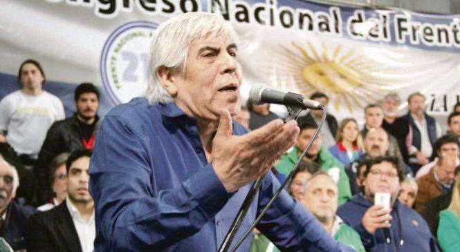 Moyano abrió etapa de protestas por Presupuesto, G-20 y el FMI