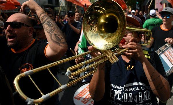 Marcha a Plaza de Mayo previo al Paro General