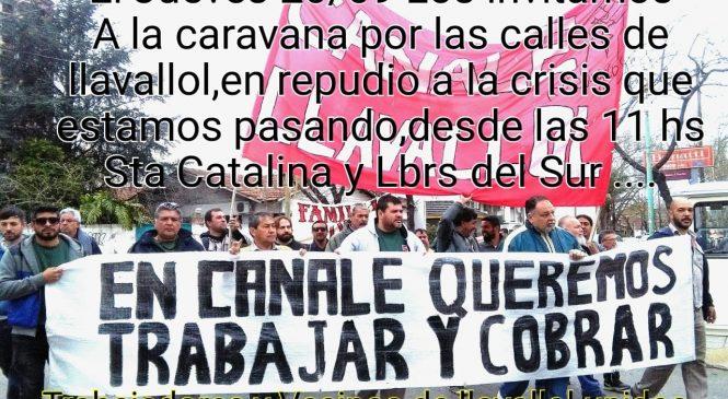 Caravana en defensa de los puestos de trabajo de Canale