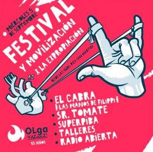 Miércoles 5/9: Movilización y Festival por la expropiación definitiva del Olga Vázquez