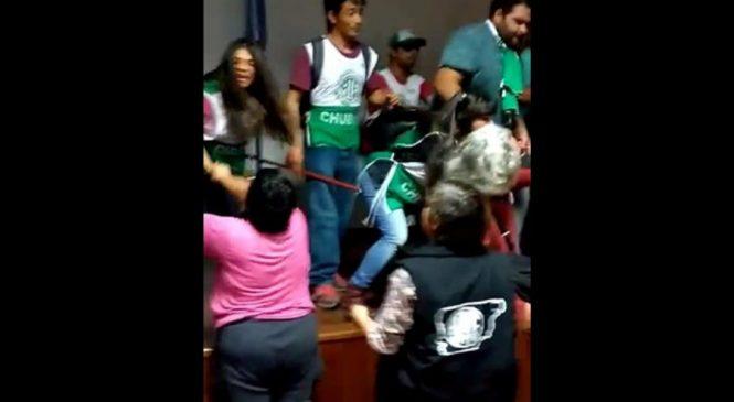 Chubut: Agresión de la Verde y Blanca a compañeros de ATE