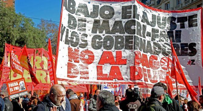 El sindicalismo combativo y el FIT se movilizan por la derrota del Presupuesto del FMI