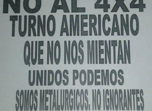 NO al 4 X 4 en CIMET de San Martín