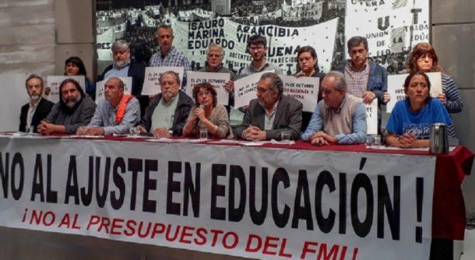 """Presupuesto 2019: """"Se pone en riesgo la subsistencia del sistema educativo"""""""