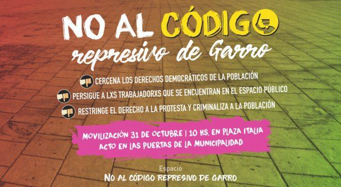 La Plata: Movilizan contra el código represivo de Garro