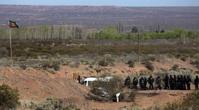 """Mapuches rechazan un """"blindaje judicial"""" a Vaca Muerta"""