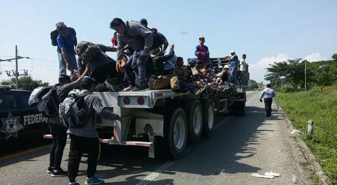 Registros de detenciones masivas de migrantes en su paso por Chiapas y Oaxaca