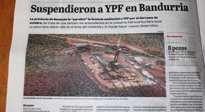 """Comunicado mapuche sobre la suspensión de licencia ambiental a YPF por derrame en """"Bandurrias"""""""