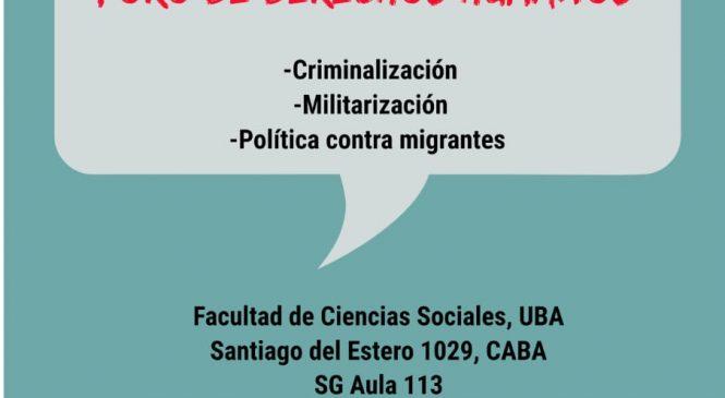 """Foro de Derechos Humanos del EMVyJ en la Semana de Acción Global """"Fuera G20 y FMI"""""""