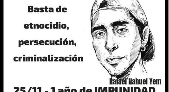 Movilizaciones en todo el país a un año del asesinato del joven mapuche Rafael Nahuel