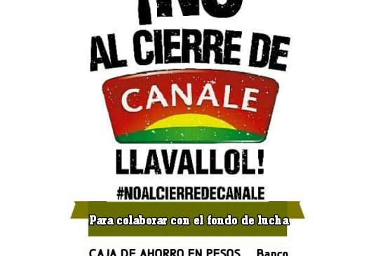 Solidaridad con los trabajadores de Canale