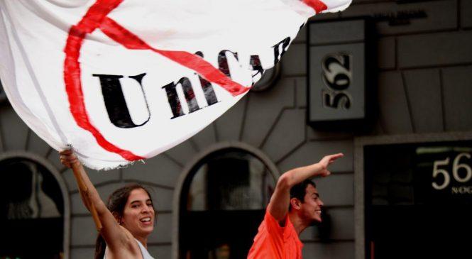 UniCABA: Acampe frente a la Legislatura previo al inicio de la sesión