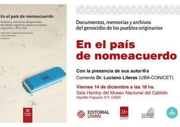 Presentan libro sobre genocidio indígena en el Cabildo de Buenos Aires