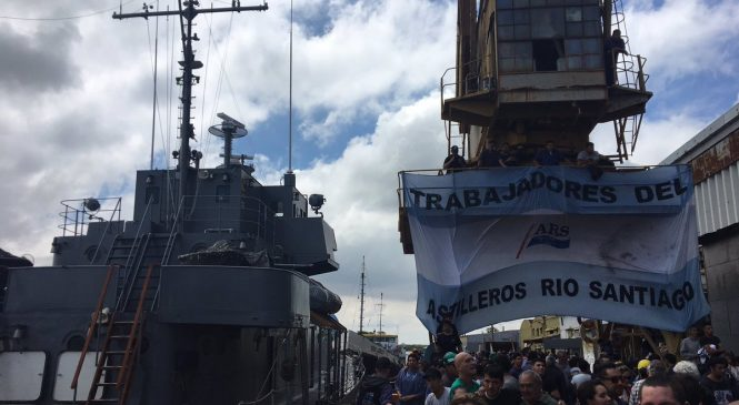 Trabajadores del Astillero Río Santiago entregaron el buque ARA King