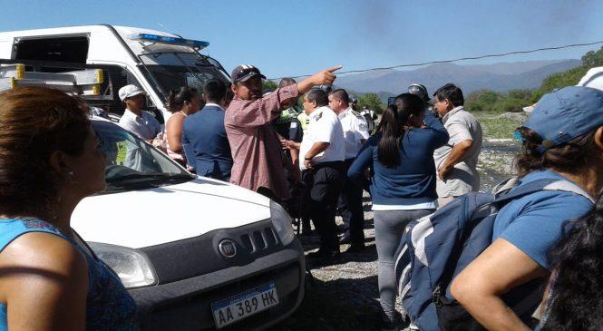 Desalojan a integrantes de la comunidad indígena Indio Colalao Base Monte Bello