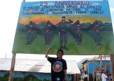 Werken mapuce en el 25º aniversario del levantamiento zapatista en Chiapas