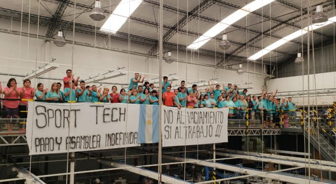 Trabajadoras y trabajadores de la fábrica Textil Sport Tech SA paran por tiempo indeterminado