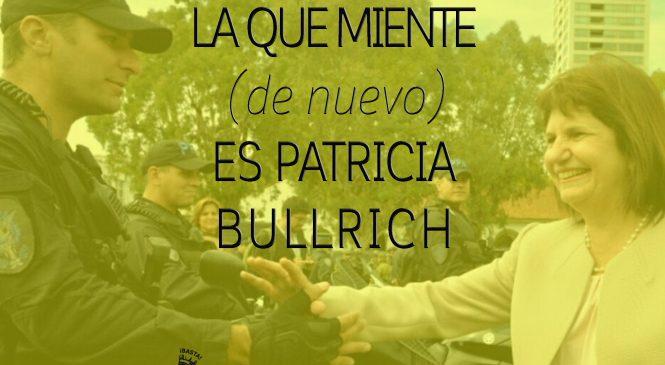 La que miente (de nuevo) es Patricia Bullrich