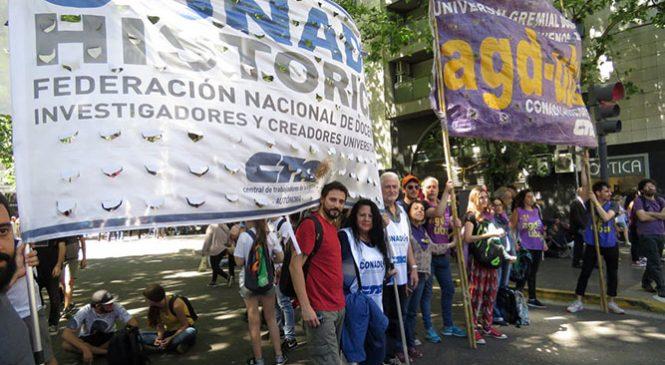 Universitarios: el deterioro salarial no se toma vacaciones