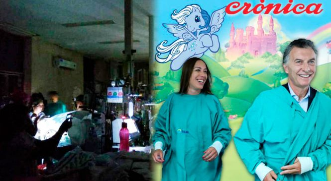 Protección para Macri y Vidal: Crónica TV censura denuncia sobre crisis en la salud pública