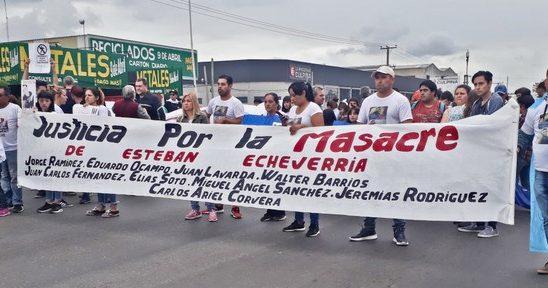 Marcha por Justicia a dos meses de la Masacre en la comisaría 3° de Esteban Echeverría