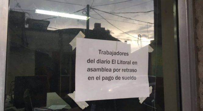 Corrientes: trabajadores de El Litoral reclaman sueldos
