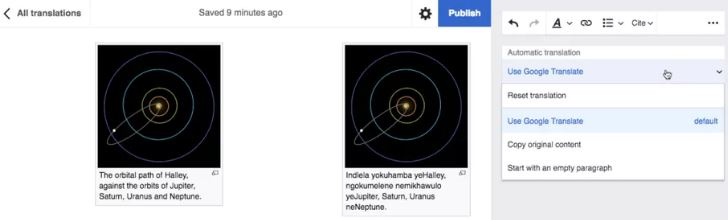 wikipedia traductor