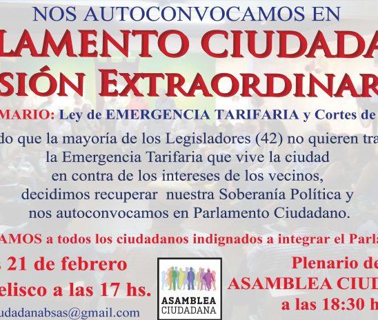 DesdeAsamblea Ciudadanainvitamos a autoconvocarnos en PARLAMENTO CIUDADANO