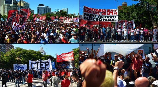 Masiva movilización contra la gestión de Mauricio Macri