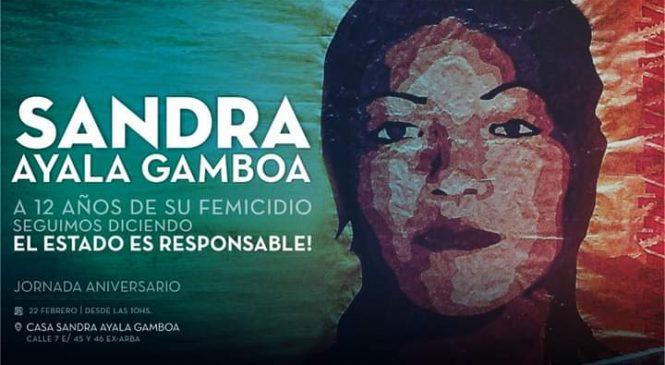 12 años del femicidio de Sandra Ayala Gamboa