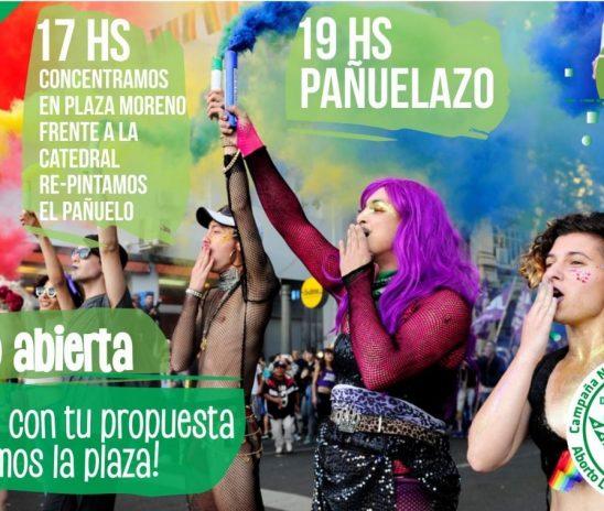 #SeguimosHaciendoHistoria, pañuelazo en La Plata