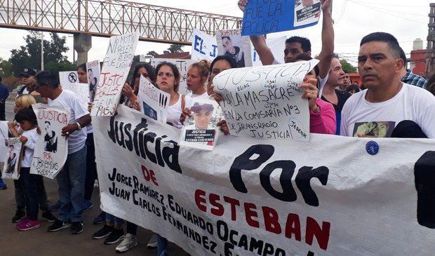 Marcha por Justicia a tres meses de la Masacre en la comisaría 3° de Esteban Echeverría