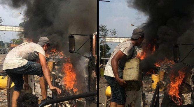 Venezuela: Denuncian segundo falso positivo en frontera con Colombia con incendio de camiones