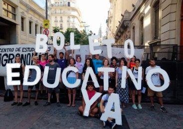 Estudiantes reclamaron por el boleto educativo