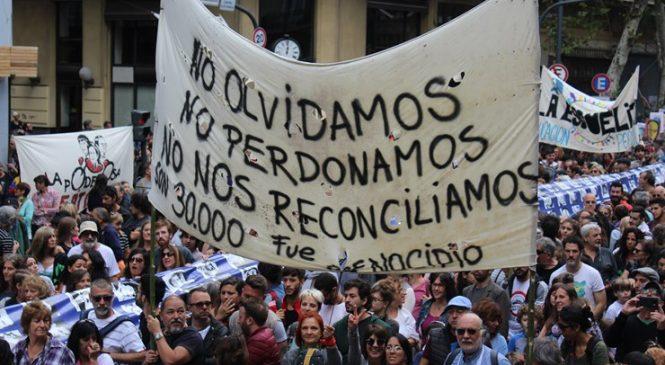 Un 24 de Marzo marcado por el repudio a la represión macrista
