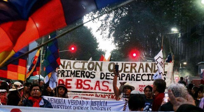 Comunidades indígenas se movilizaron contra los genocidios en Buenos Aires
